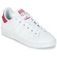 Buty Dziewczynka Trampki niskie adidas Originals STAN SMITH J SUSTAINABLE Biały / Różowy