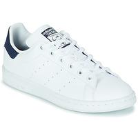 Buty Dziecko Trampki niskie adidas Originals STAN SMITH J SUSTAINABLE Biały / Marine / Vegan