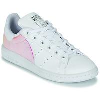 Buty Dziewczynka Trampki niskie adidas Originals STAN SMITH J SUSTAINABLE Biały / Tęczowy