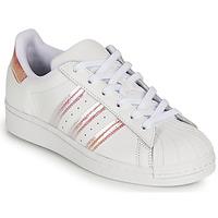 Buty Dziewczynka Trampki niskie adidas Originals SUPERSTAR J Biały / Tęczowy
