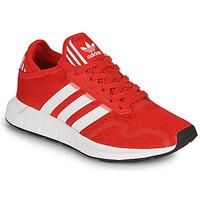 Buty Dziecko Trampki niskie adidas Originals SWIFT RUN X J Czerwony