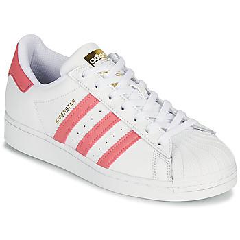 Buty Damskie Trampki niskie adidas Originals SUPERSTAR W Biały / Różowy