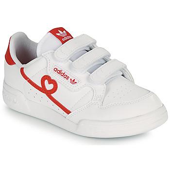 Buty Dziewczynka Trampki niskie adidas Originals CONTINENTAL 80 CF I Biały / Czerwony
