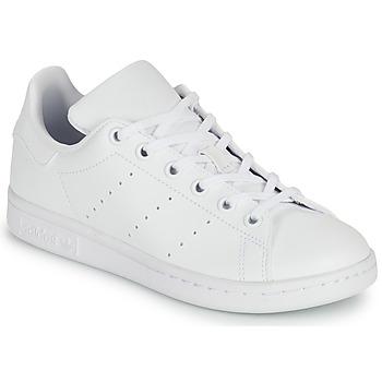 Buty Dziecko Trampki niskie adidas Originals STAN SMITH J SUSTAINABLE Biały