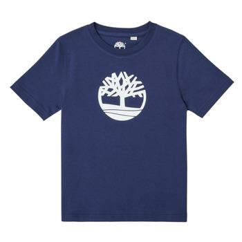 tekstylia Chłopiec T-shirty z krótkim rękawem Timberland TRISTA Niebieski