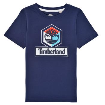 tekstylia Chłopiec T-shirty z krótkim rękawem Timberland GRISS Marine
