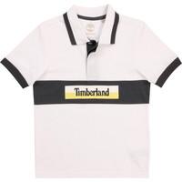 tekstylia Chłopiec Koszulki polo z krótkim rękawem Timberland DOTTO Biały