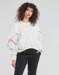 tekstylia Damskie Bluzy Converse BLOCKED ALTERRAIN CREW Biały