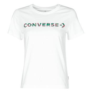 tekstylia Damskie T-shirty z krótkim rękawem Converse CENTER FRONT ICON CLASSIC TEE Biały