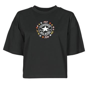 tekstylia Damskie T-shirty z krótkim rękawem Converse CHUCK WOMENS WANDER TANK Czarny