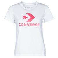 tekstylia Damskie T-shirty z krótkim rękawem Converse STAR CHEVRON CENTER FRONT TEE Biały