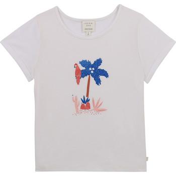 tekstylia Dziewczynka T-shirty z krótkim rękawem Carrément Beau Y15383-10B Biały