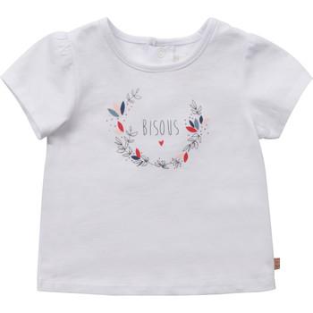 tekstylia Dziewczynka T-shirty z krótkim rękawem Carrément Beau Y95270-10B Biały