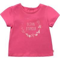 tekstylia Dziewczynka T-shirty z krótkim rękawem Carrément Beau Y95270-46C Różowy