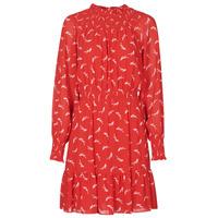 tekstylia Damskie Sukienki krótkie MICHAEL Michael Kors SIGNATRE LOGO SMCK DR Czerwony
