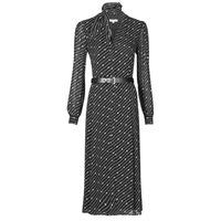 tekstylia Damskie Sukienki długie MICHAEL Michael Kors CIRCLE LOGO SHRT DRS Czarny / Biały