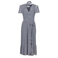 tekstylia Damskie Sukienki długie MICHAEL Michael Kors MINI BICOLR 60S FLRL DRS Niebieski
