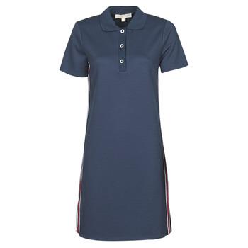 tekstylia Damskie Sukienki krótkie MICHAEL Michael Kors SS LOGO TAPE POLO DRS Marine