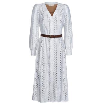 tekstylia Damskie Sukienki długie MICHAEL Michael Kors ROPE STRIPES HEMP DS Biały