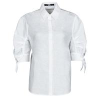 tekstylia Damskie Koszule Karl Lagerfeld LINENSHIRTW/BOWS Biały