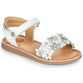 Buty Dziewczynka Sandały Gioseppo MAZARA Biały / Srebrny