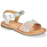 Buty Dziewczynka Sandały Gioseppo QUINCY Srebrny / Różowy