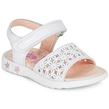 Buty Dziewczynka Sandały Pablosky DROSSI Biały / Różowy