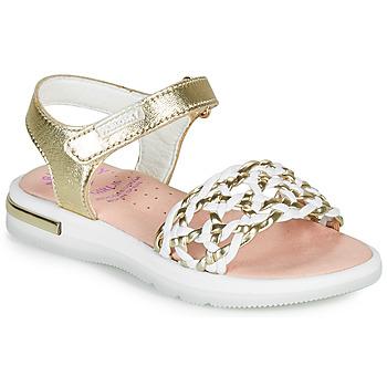 Buty Dziewczynka Sandały Pablosky DANIE Złoty / Biały