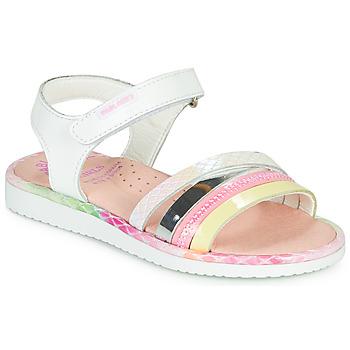Buty Dziewczynka Sandały Pablosky MOUNNA Biały / Różowy