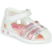 Buty Dziewczynka Sandały Pablosky ELLA Biały / Różowy