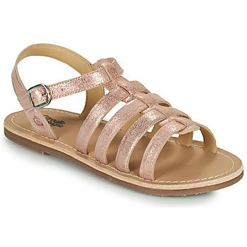 Buty Dziewczynka Sandały Citrouille et Compagnie MAYANA Różowy / Dore