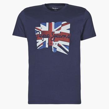 tekstylia Męskie T-shirty z krótkim rękawem Pepe jeans DONALD Marine