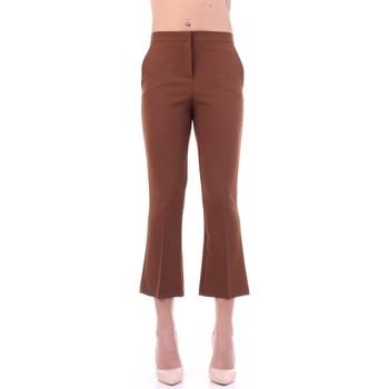 tekstylia Damskie Spodnie od garnituru  Angela Davis EG71 Brązowy