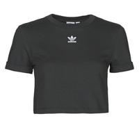 tekstylia Damskie T-shirty z krótkim rękawem adidas Originals CROP TOP Czarny