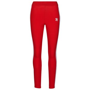 tekstylia Damskie Legginsy adidas Originals 3 STR TIGHT Czerwony