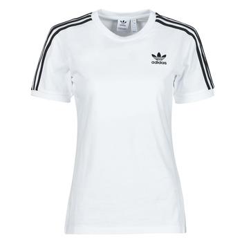 tekstylia Damskie T-shirty z krótkim rękawem adidas Originals 3 STRIPES TEE Biały