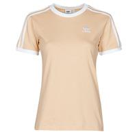 tekstylia Damskie T-shirty z krótkim rękawem adidas Originals 3 STRIPES TEE Pomarańczowy