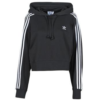 tekstylia Damskie Bluzy adidas Originals SHORT HOODIE Czarny