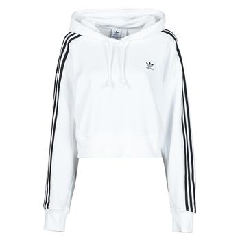 tekstylia Damskie Bluzy adidas Originals SHORT HOODIE Biały