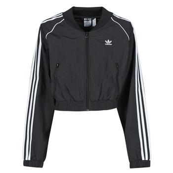 tekstylia Damskie Bluzy dresowe adidas Originals SHORT TRACKTOP Czarny