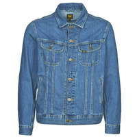 tekstylia Męskie Kurtki jeansowe Lee LEE RIDER JACKET Niebieski
