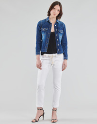 tekstylia Damskie Spodnie z pięcioma kieszeniami Le Temps des Cerises EZRA Biały