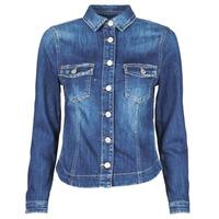 tekstylia Damskie Kurtki jeansowe Le Temps des Cerises LILLY Niebieski