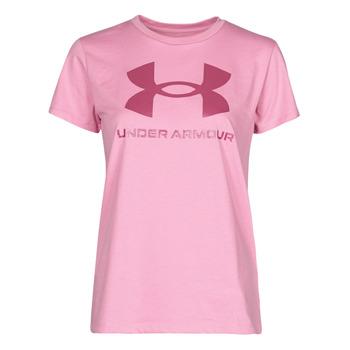tekstylia Damskie T-shirty z krótkim rękawem Under Armour LIVE SPORTSTYLE GRAPHIC SSC Różowy