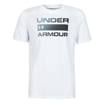 tekstylia Męskie T-shirty z krótkim rękawem Under Armour UA TEAM ISSUE WORDMARK SS Biały