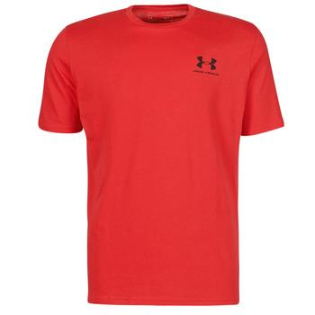 tekstylia Męskie T-shirty z krótkim rękawem Under Armour UA SPORTSTYLE LC SS Czerwony