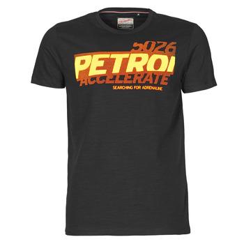 tekstylia Męskie T-shirty z krótkim rękawem Petrol Industries T-SHIRT SS R-NECK F Czarny
