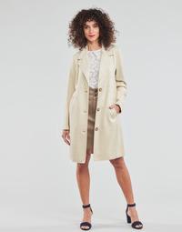 tekstylia Damskie Płaszcze Esprit SUEDE COAT Beżowy