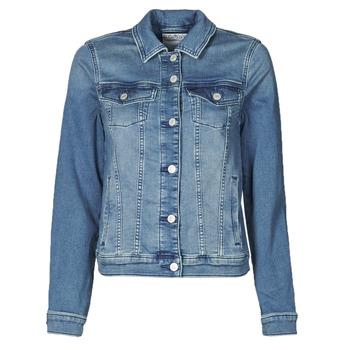 tekstylia Damskie Kurtki jeansowe Esprit JOGGER JACKET Niebieski
