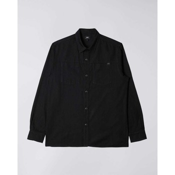 tekstylia Męskie Koszule z długim rękawem Edwin Chemise  Fannar noir